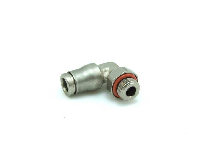 """90° Schwenk- Steckanschluss für 6mm Schlauch mit 1/8""""AG inkl. Dichtring"""