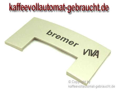 Menüklappe in rauchsilber für Bremer Viva Kaffeevollautomat