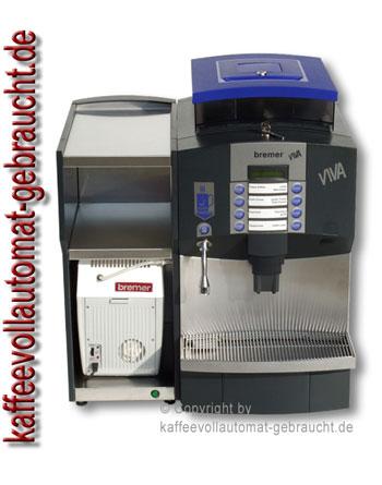 Kaffeevollautomat Bremer Viva + Tassenwärmer + Milchkühlbox