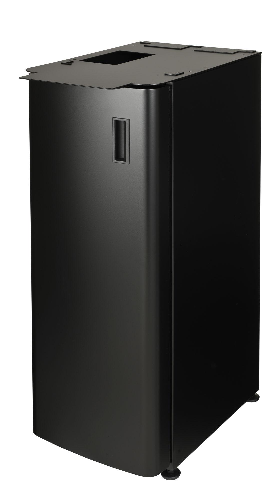 Metall- Unterschrank in schwarz mit Drehtür