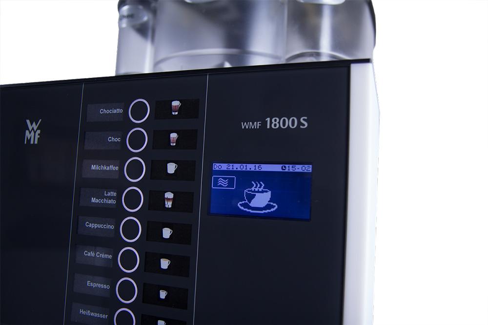 WMF 1800S, 2 Mahlwerke + Schoko, Frischmilch, Plug&Clean, 230V
